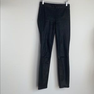 J BRAND DYED LAMB LEATHER JEGGINGS